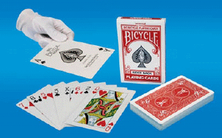 BICYCLE DECK--JUMBO, RED