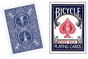 BICYCLE DECK--POKER, BLUE