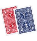 BICYCLE GAFFS--DOUBLE BACK, POKER--RED/BLUE