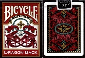 PLAYING CARDS--BICYCLE DRAGON, POKER--RED