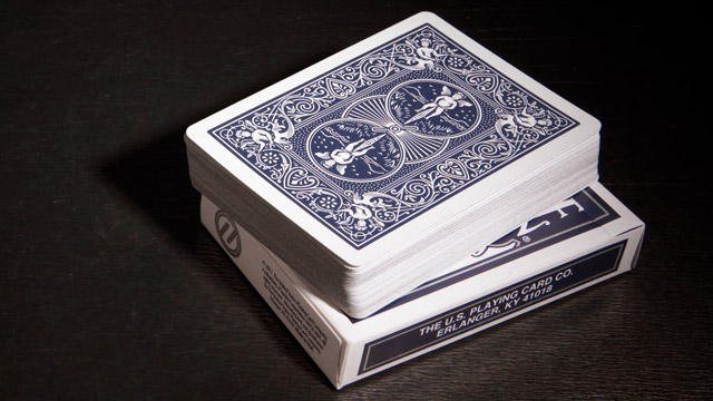 PLAYING CARDS--BICYCLE TITANIUM, BLUE