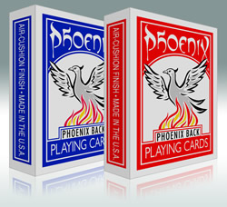 PLAYING CARDS--PHOENIX POKER, BLUE