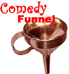 COMEDY FUNNEL--PLATED BRASS