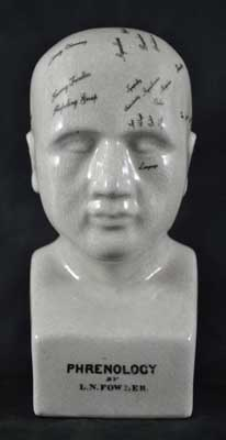 PHRENOLOGY HEAD, PORCELAIN--8""