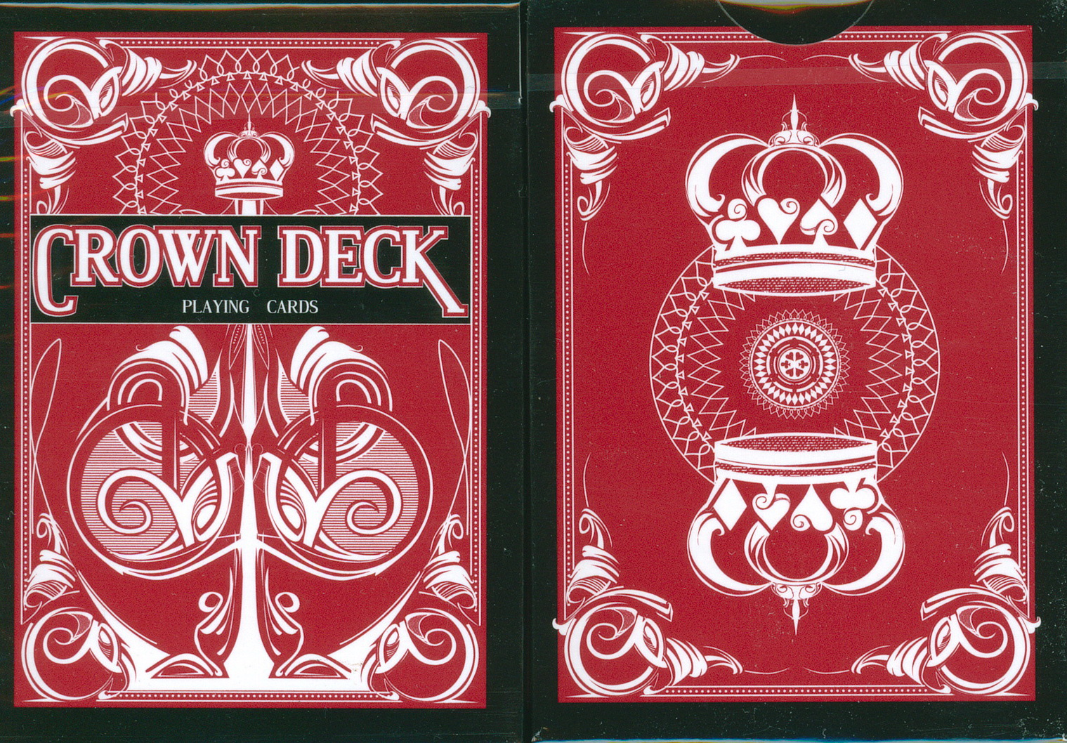 PLAYING CARDS--CROWN, POKER--RED