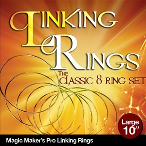 """LINKING RINGS--10"""", STAINLESS STEEL W/DVD"""