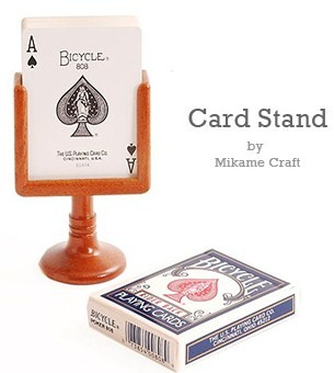 CARD STAND--POKER, WOOD