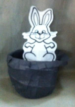 RABBIT IN HAT PAPER TEAR