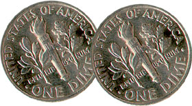 TWO TAILED DIME