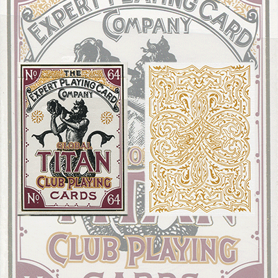 PLAYING CARDS--GLOBAL TITAN CLUB POKER, WHITE