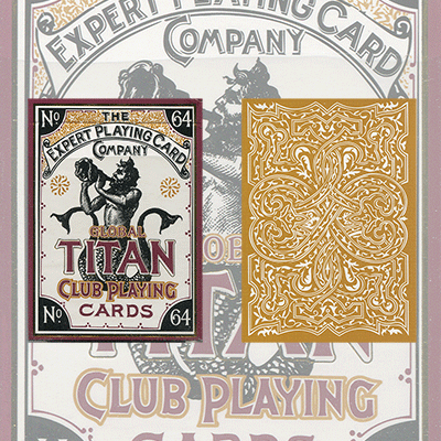 PLAYING CARDS--GLOBAL TITAN CLUB POKER, GOLD