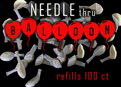 BALLOONS--FOR NEEDLE THRU BALLOON, BAG OF 100