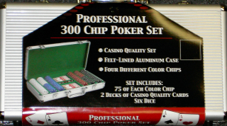 POKER SET--PROFESSIONAL 300 CHIP