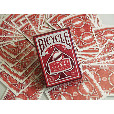 PLAYING CARDS--BICYCLE FLIGHT DECK, RED