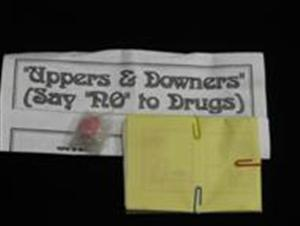 """UPPERS & DOWNERS--""""JUST SAY NO!"""" TO DRUGS"""