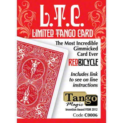 LIMITED TANGO CARD (L.T.C.)  BICYCLE, RED