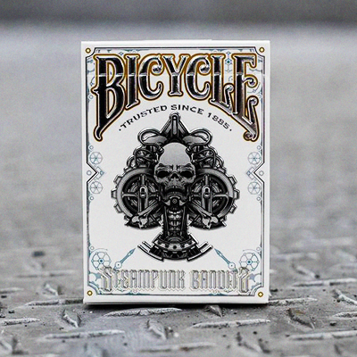 PLAYING CARDS--BICYCLE STEAMPUNK, WHITE