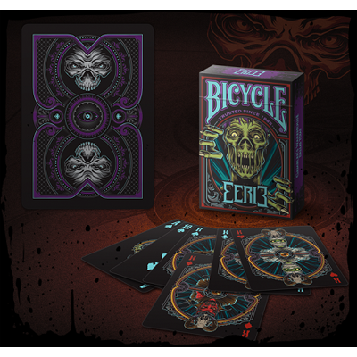 PLAYING CARDS--BICYCLE EERIE DECK, PURPLE