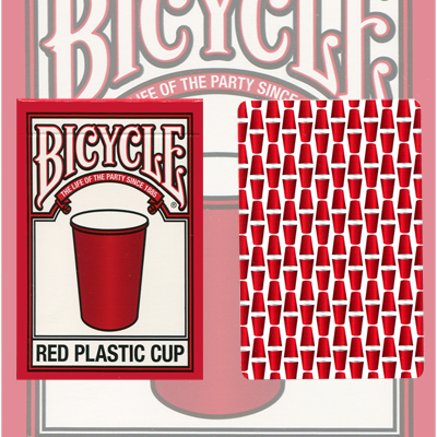 PLAYING CARDS--BICYCLE RED PLASTIC CUP DECK