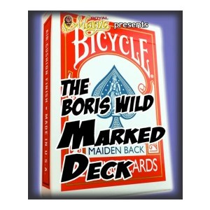 BORIS WILD MARKED DECK--MAIDEN, RED