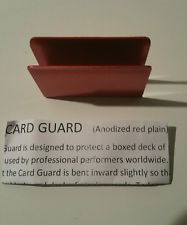 CARD GUARD--ANODIZED, RED