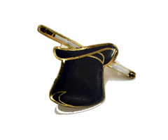 LAPEL PIN--TOP HAT & WAND