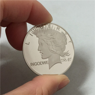 PALMING COINS--PEACE DOLLAR