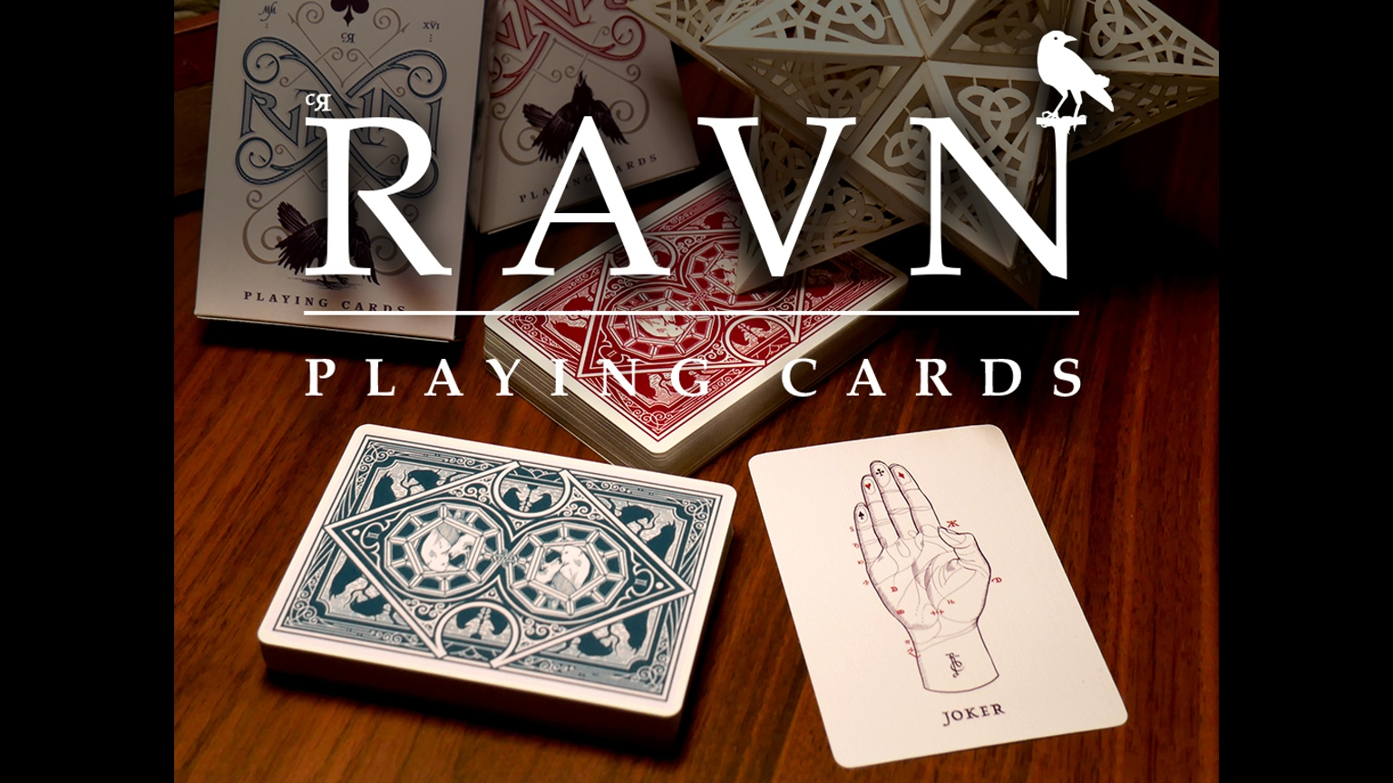 PLAYING CARDS--RAVN DECK, GREEN