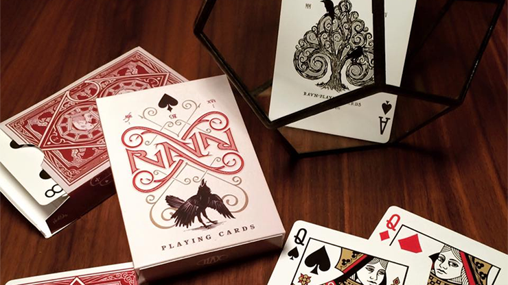 PLAYING CARDS--RAVN DECK, RED