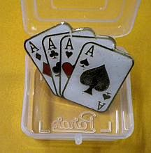 LAPEL PIN--FOUR ACES