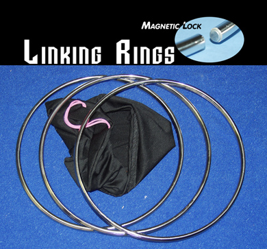 "LINKING RINGS--12"" SET OF 3, MAGNETIC LOCK"