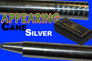 APPEARING CANE, SILVER W/RECOIL STOPPER