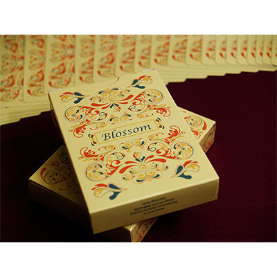 PLAYING CARDS--BLOSSOM DECK, PLATINUM METALLIC INK, FALL