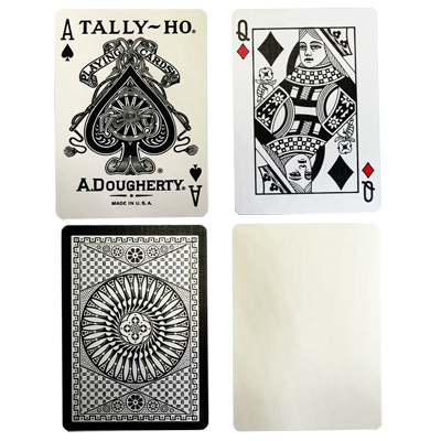 PLAYING CARDS--TALLY-HO REVERSE CIRCLE BACK, WHITE