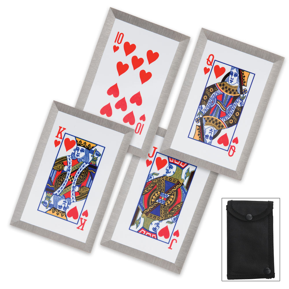 TACTICAL HEARTS THROWING CARD SET