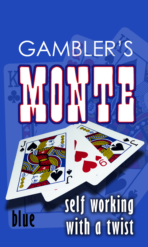 GAMBLER'S MONTE--BICYCLE, BLUE