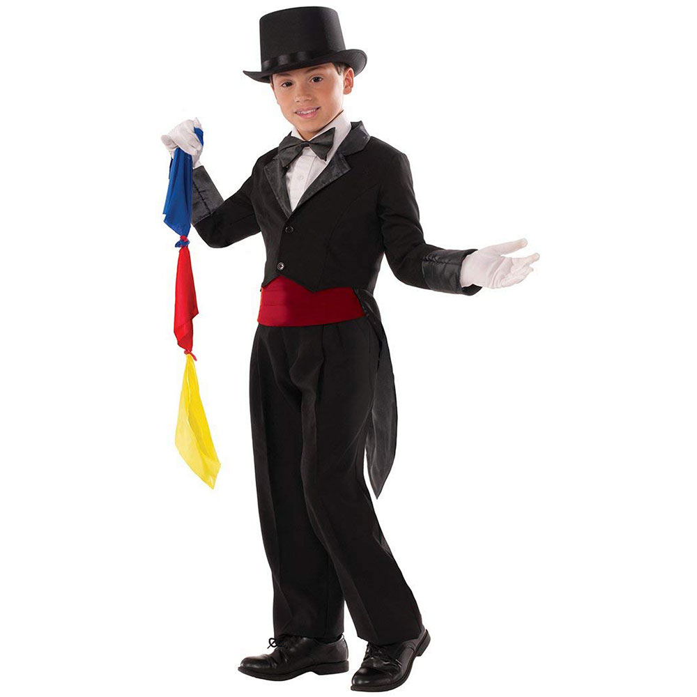 MAGICIAN TAILCOAT & SCARVES--CHILD'S MEDIUM