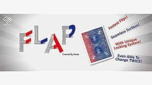 MODERN FLAP CARD--RED TO BLUE