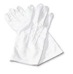 GLOVES--WHITE COTTON