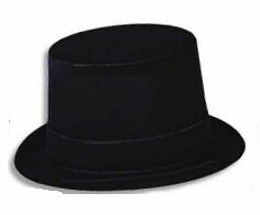 TOP HAT--VELOUR FLOCKED