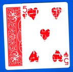 BICYCLE GAFF--BROKEN HEART CARD, POKER--RED