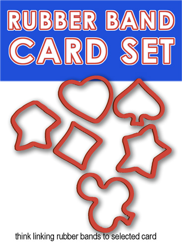 RUBBER BAND CARD SET OF PIPS