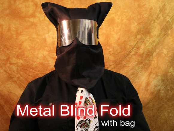 METAL BLINDFOLD--CHROME, W/BAG