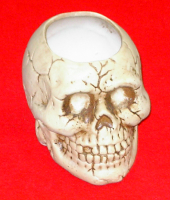 FULL SKULL VOTIVE HOLDER
