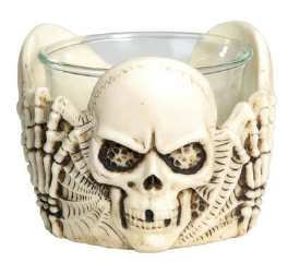 SKULL VOTIVE HOLDER