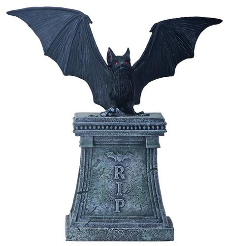 BAT ON TOMBSTONE