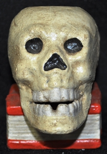 SKULL WITH BOOK MATCH HOLDER