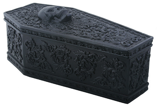 GOTHIC FLORAL COFFIN BOX