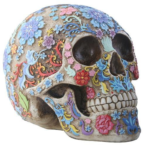 COLORED FLORAL SKULL